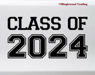 Class of 2024 Vinyl Sticker - Graduate High School College - Die Cut Decal