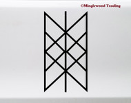 Web of Wyrd Vinyl Sticker - Viking Matrix of Fate Skuld's Net Symbol - Die Cut Decal
