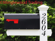 Vertical Mailbox Numbers - 1-10 inches - Custom House Address Vinyl Sticker - Die Cut Decal - DUCH