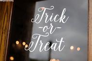 Trick or Treat Vinyl Sticker - Halloween Candy - V2 Die Cut Decal