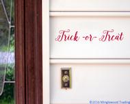 Trick or Treat Vinyl Sticker - Halloween Candy - V1 Die Cut Decal