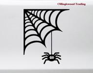 Spider's Web Vinyl Sticker - Halloween Spooky - V2 Die Cut Decal