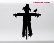 Scarecrow Vinyl Sticker - Halloween Farm - Die Cut Decal