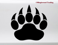 Bear Claw Vinyl Sticker - Pawprint Footprint Cub - Die Cut Decal