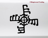 Ginfaxi Vinyl Sticker - Icelandic Magical Stave Courage in Combat - Die Cut Decal