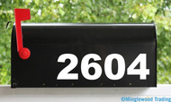 "Bold Modern Mailbox Numbers Vinyl Sticker - 1"" to 10"" tall - Name Home House Office Address - AB"