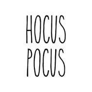 Hocus Pocus Vinyl Sticker - Halloween Farmhouse Skinny Font Rae Dunn Inspired - Die Cut Decal