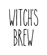 Witch's Brew Vinyl Sticker - Halloween Farmhouse Skinny Font Rae Dunn Inspired - Die Cut Decal