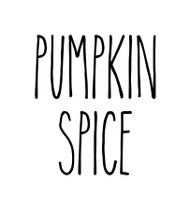 Pumpkin Spice Vinyl Sticker - Halloween Farmhouse Skinny Font Rae Dunn Inspired - Die Cut Decal