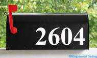 "Standard Mailbox Numbers Vinyl Sticker - 1"" to 10"" tall - Name Home House Office Address - TNRB"