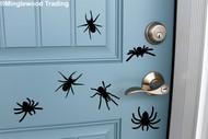 Sheet Set of 6 Spiders Vinyl Stickers - Halloween Spooky - V1 Die Cut Decals