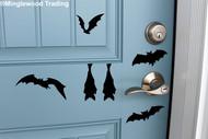 Sheet Set of 6 Bats Vinyl Stickers - Halloween Spooky - V1 Die Cut Decals