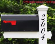 Vertical Elegant Numbers - 1-10 inches - Custom Mailbox House Address Vinyl Sticker - Die Cut Decal - BALM