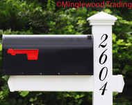Vertical Elegant Numbers - 1-10 inches - Custom Mailbox House Address Vinyl Sticker - Die Cut Decal - BALM