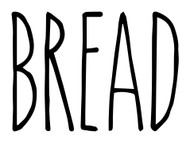 Bread Vinyl Sticker - Farmhouse Skinny Font Rae Dunn Inspired - Kitchen Decor - Die Cut Decal