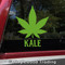 Kale Marijuana Leaf Vinyl Decal - Cannabis Pot Indica Sativa - Die Cut Sticker