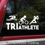 Triathlete Vinyl Decal - Swim Bike Run Triathlon Race Sport - Die Cut Sticker