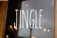 Jingle Vinyl Sticker - Christmas Decor Farmhouse Skinny Font Rae Dunn Inspired - Home Die Cut Decal