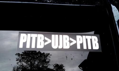 """PITB>UJB>PITB 8.5"""" x 2"""" Bumper Sticker  - The Grateful Dead Vinyl Decal - Jerry Garcia"""