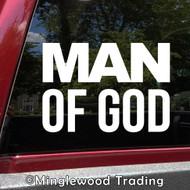 Man of God Vinyl Decal - Church Religion Jesus Holy Father - Die Cut Sticker