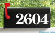 """HOA Mailbox Numbers - Vinyl Sticker - 1"""" to 8"""" tall - Personalized Name Home House Office Address - Die Cut Decal - CSB"""