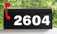 """Custom HOA Mailbox Numbers - Vinyl Sticker - 1"""" to 8"""" tall - Name Home House Office Address- Die Cut Decal - SSF"""