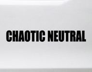 Chaotic Neutral Vinyl Sticker - RPG Role Playing Character Alignment V1 - Die Cut Decal