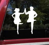 Irish Dancing Couple Vinyl Decal - Step Dancers Ireland Dance - Die Cut Decal