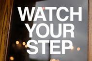 Watch Your Step Vinyl Decal - Caution Steps - Die Cut Sticker