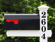 Classic Vertical Mailbox Numbers - 1-10 inches - HOA Custom House Address Vinyl Sticker - Die Cut Decal - CSB