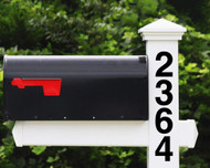 Vertical Numbers Vinyl Decal 1-10 inches HOA Custom Mailbox House Address Die Cut Sticker - HLVB