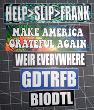 5-pack Grateful Dead Bumper Stickers V2 Jerry Garcia MAGA Weir Everywhere GDTRFB