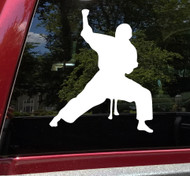 Karate Boy Vinyl Decal V2 - Man Judo Taekwondo Martial Arts - Die Cut Sticker