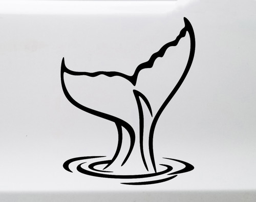 Tail of a Whale Vinyl Decal - Ocean Sea Waves Water - Die Cut Sticker