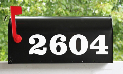 """HOA Mailbox Numbers Vinyl Sticker - 1"""" to 10"""" tall - Name Home House Office Address - CLD"""