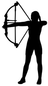 "Archer - Archery - Vinyl Decal Sticker - 5.5"" x 3"""