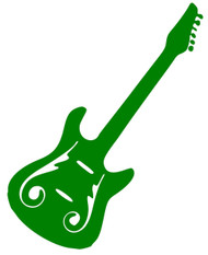 "Electric Guitar - Vinyl Decal Sticker - 5"" x 4.5"""