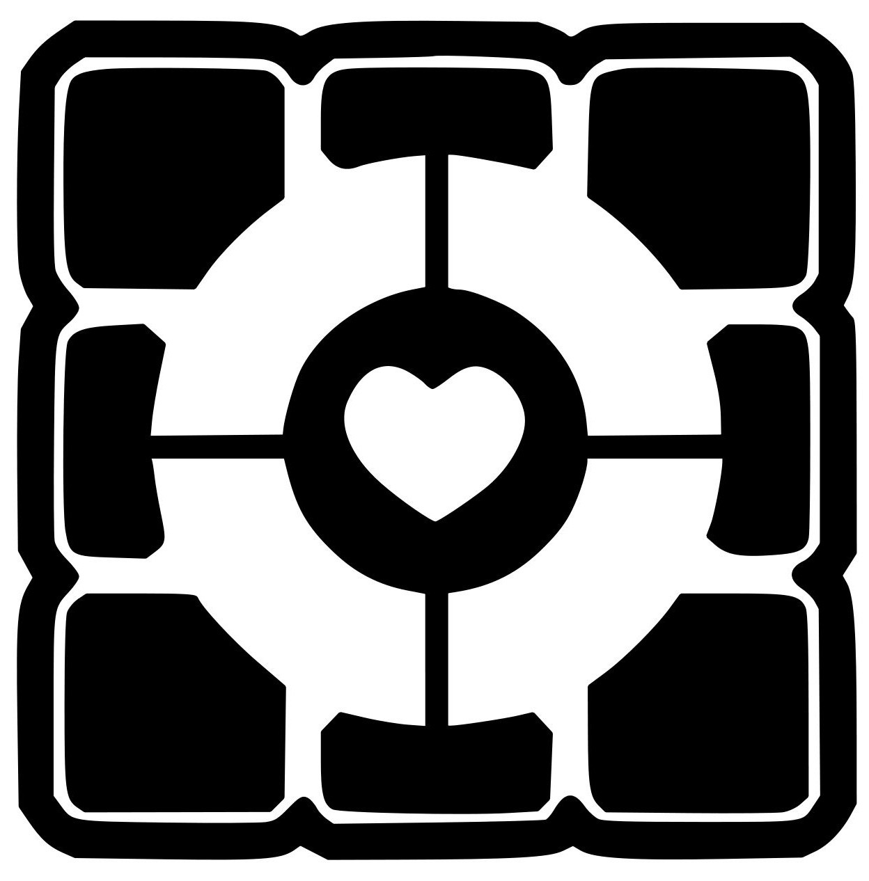 Portal 2 Companion Cube Vinyl Decal Sticker 4