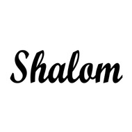 "Shalom Door Sign - Jewish Peace Sholom Sholem Vinyl Decal Sticker - 8.5"" x 2.5"""