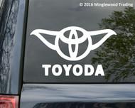 "Yoda Toyota Toyoda - Prius Corolla RAV4 Land Cruiser Vinyl Decal Sticker 7"" x 4"""