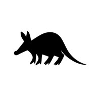 "Aardvark Vinyl Decal Sticker - 5.5"" x 2.5"" Tubulidentata Giant Anteater"