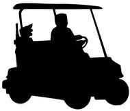 """Golf Cart Car Vinyl Decal Sticker - Golfing Course Links Tee 5.5"""" x 4.5"""""""