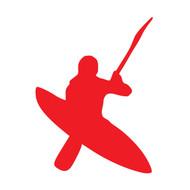 """Kayak Vinyl Decal Sticker - Whitewater Rapids River Sea Kayaking 5.5"""" x 4"""""""