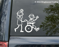 "Nurse Wheelchair Vinyl Decal Sticker - Hospital EMT ER Clinic 5.5"" x 5"""