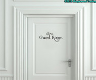 "Guest Room Vinyl Decal Sticker 9"" x 3.5"" - Bedroom Door Sign"