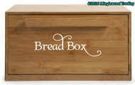 "Bread Box Label - Kitchen Breadbox Bread Bin Vinyl Decal Sticker - 8"" x 2.5"""