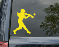 "Softball Hitter Vinyl Decal Sticker 5"" x 4.5"" Fastpitch iPad"