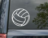 """Volleyball Vinyl Decal Sticker 5"""" x 5"""" Volley Spike Block"""