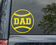 "Softball DAD Vinyl Decal Sticker 5"" x 5"" Fastpitch"