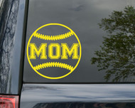 "Softball MOM Vinyl Decal Sticker 5"" x 5"" Fastpitch Co-Ed"